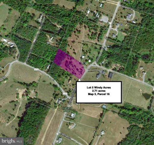 Lot 5 Highland Ridge Road, BERKELEY SPRINGS, WV 25411 (#WVMO115540) :: Arlington Realty, Inc.