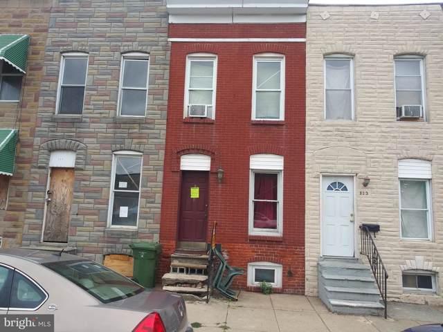 322 S Smallwood Street, BALTIMORE, MD 21223 (#MDBA483740) :: The Miller Team