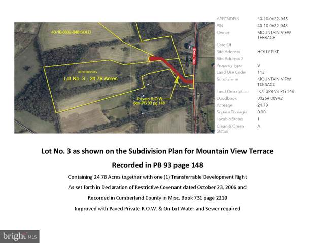 00 HOLLY PIKE - LOT 3 - MOUNTAIN VIEW TERRACE, CARLISLE, PA 17015 (#PACB118300) :: Berkshire Hathaway Homesale Realty