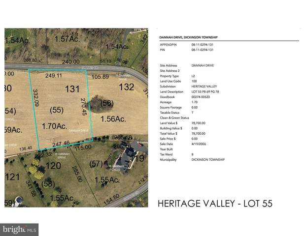 Heritage Valley - Dannah Drive Lot 55, CARLISLE, PA 17015 (#PACB122536) :: Mortensen Team