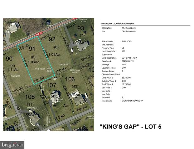 Kings Gap - Pine Road Lot 5, CARLISLE, PA 17015 (#PACB122540) :: Lee Tessier Team