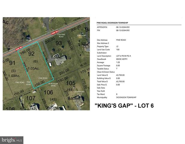 Kings Gap - Pine Road Lot 6, CARLISLE, PA 17015 (#PACB122544) :: Lee Tessier Team
