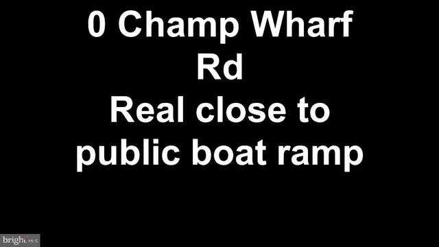 0 Champ Wharf Road, PRINCESS ANNE, MD 21853 (#MDSO103436) :: CENTURY 21 Core Partners