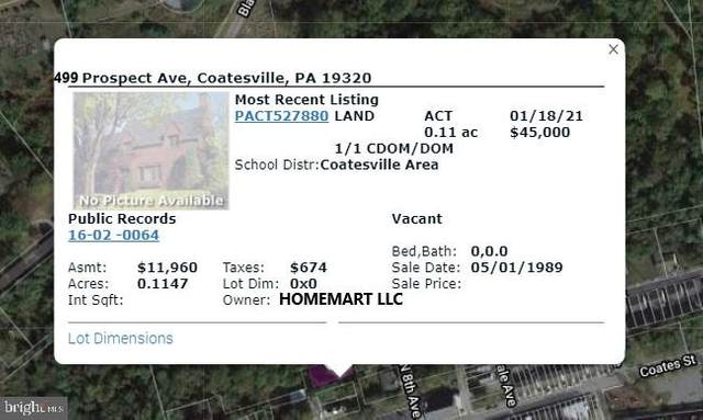 499 Prospect Avenue, COATESVILLE, PA 19320 (#PACT527880) :: RE/MAX Main Line