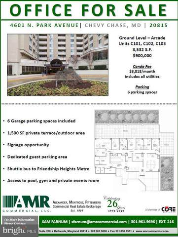 4601 North Park Avenue C101, C102, C10, CHEVY CHASE, MD 20815 (#MDMC741974) :: The Gold Standard Group