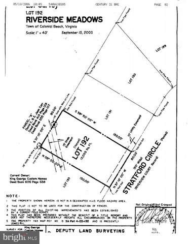 Stratford Circle, COLONIAL BEACH, VA 22443 (#VAWE2000556) :: Debbie Dogrul Associates - Long and Foster Real Estate
