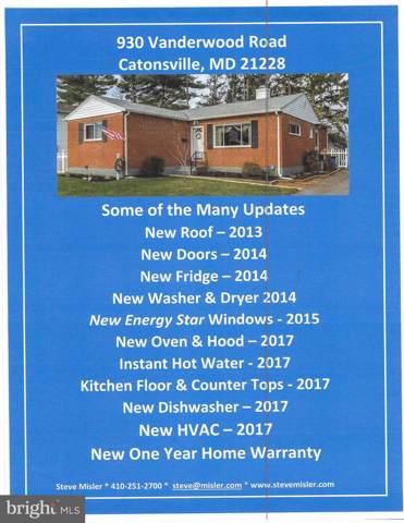 930 Vanderwood Road, BALTIMORE, MD 21228 (#MDBC465928) :: Great Falls Great Homes