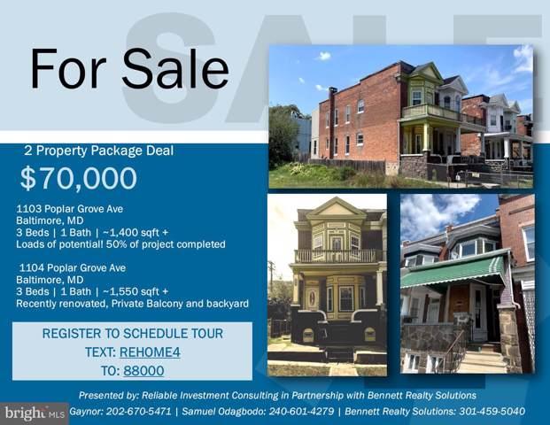 1104 Poplar Grove Street, BALTIMORE, MD 21216 (#MDBA481940) :: Homes to Heart Group