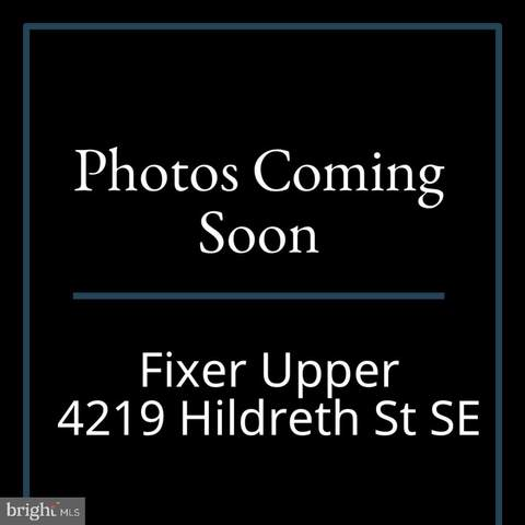4219 Hildreth Street SE, WASHINGTON, DC 20019 (#DCDC2006036) :: The Vashist Group