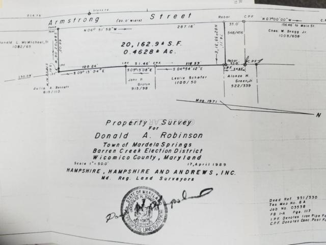 Armstrong Street, MARDELA SPRINGS, MD 21837 (#1001560832) :: Bob Lucido Team of Keller Williams Integrity