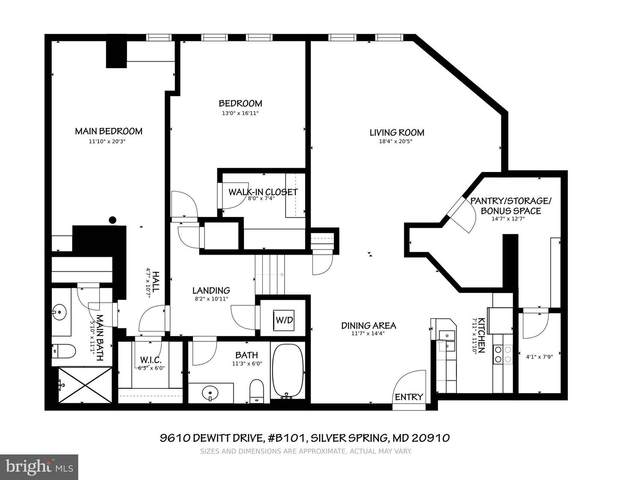 9610 Dewitt Drive B101, SILVER SPRING, MD 20910 (#MDMC749912) :: City Smart Living