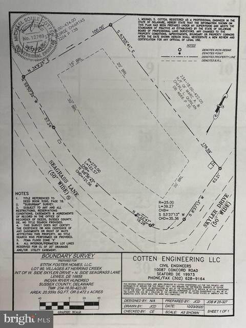 34456 Seagrass Ln Lot 90, LEWES, DE 19966 (#DESU184252) :: The Lisa Mathena Group