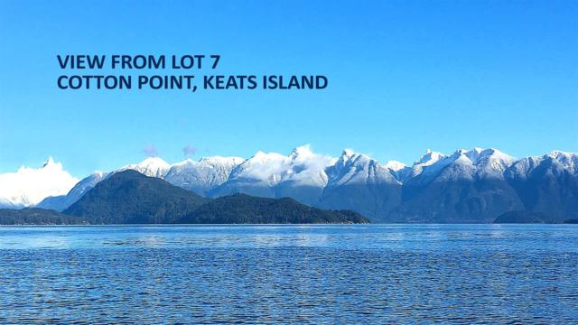 Lot 7 Cotton Point Road, Keats Island, BC V0N 1V0 (#R2227580) :: Vallee Real Estate Group