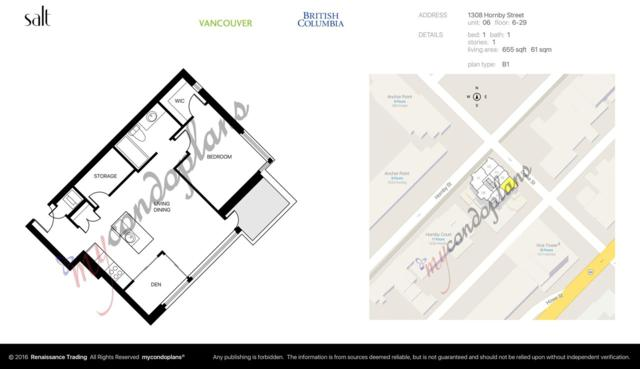 1308 Hornby Street #606, Vancouver, BC V6Z 0C5 (#R2228116) :: Re/Max Select Realty