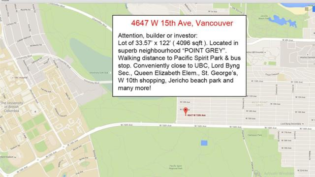 4647 W 15TH Avenue, Vancouver, BC V6R 3B5 (#R2317624) :: RE/MAX City Realty