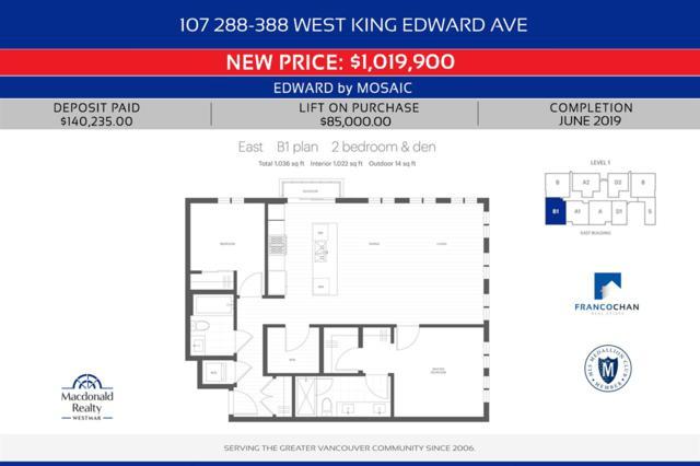 288 W King Edward Avenue #107, Vancouver, BC V5Y 2J2 (#R2351404) :: Vancouver Real Estate