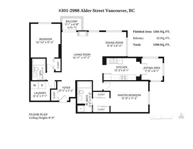 2988 Alder Street #301, Vancouver, BC V6H 4C3 (#R2472597) :: 604 Realty Group