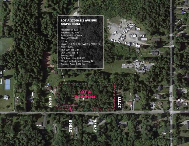 27000BL 112 Avenue Lot A, Maple Ridge, BC V2W 1P8 (#R2505305) :: Initia Real Estate