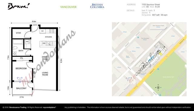 1155 Seymour Street #805, Vancouver, BC V6B 1K2 (#R2510737) :: RE/MAX City Realty