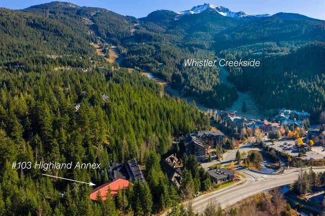 2109 Whistler Road #103, Whistler, BC V8E 0A6 (#R2530813) :: 604 Home Group