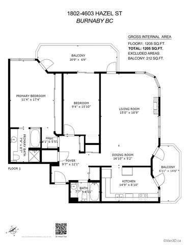 4603 Hazel Street #1802, Burnaby, BC V5H 4N1 (#R2604882) :: Premiere Property Marketing Team