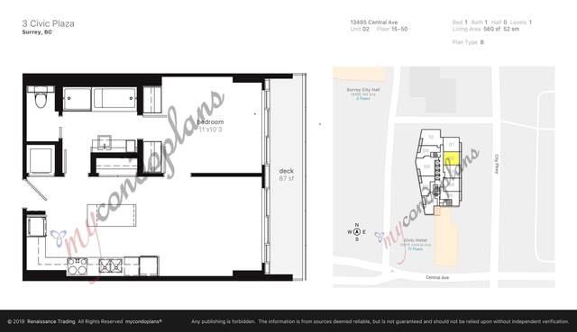 13495 Central Avenue #2702, Surrey, BC V3T 0K2 (#R2618667) :: 604 Home Group