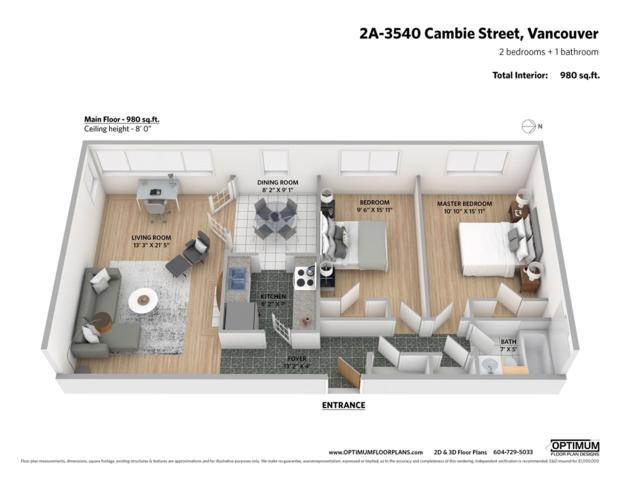 3540 Cambie Street 2A, Vancouver, BC V5Z 2X1 (#R2370803) :: Vancouver Real Estate