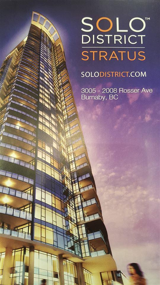 2008 Rosser Avenue #3005, Burnaby, BC V5C 0H8 (#R2216070) :: Vallee Real Estate Group