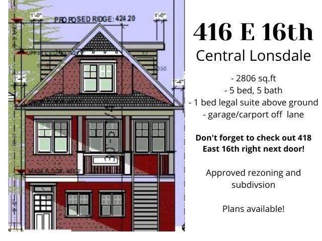 416 E 16 Street, North Vancouver, BC V7M 3M8 (#R2591234) :: Premiere Property Marketing Team