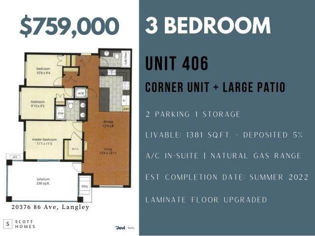 20376 86 Avenue #406, Langley, BC V0V 0V0 (#R2626225) :: Ben D'Ovidio Personal Real Estate Corporation   Sutton Centre Realty