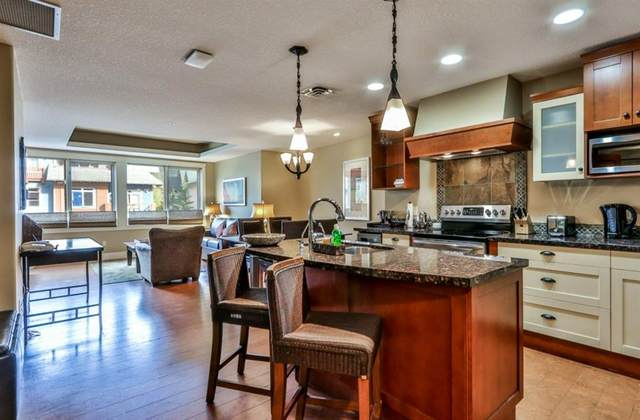 173 Kananaskis Way #301, Canmore, AB T1W 0A3 (#A1041141) :: Western Elite Real Estate Group