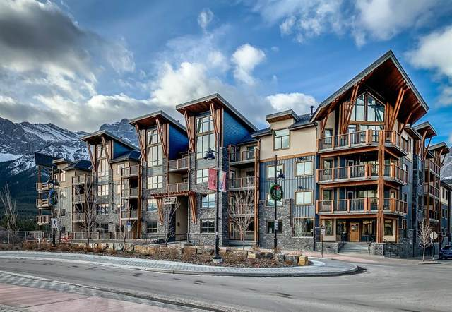 1105 Spring Creek Drive #101, Canmore, AB T1W 0M6 (#A1053491) :: Canmore & Banff