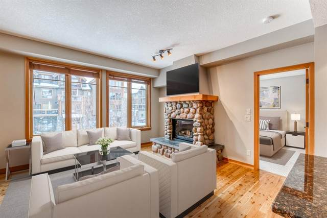 505 Spring Creek Drive #203, Canmore, AB T1W 0C5 (#A1094864) :: Canmore & Banff