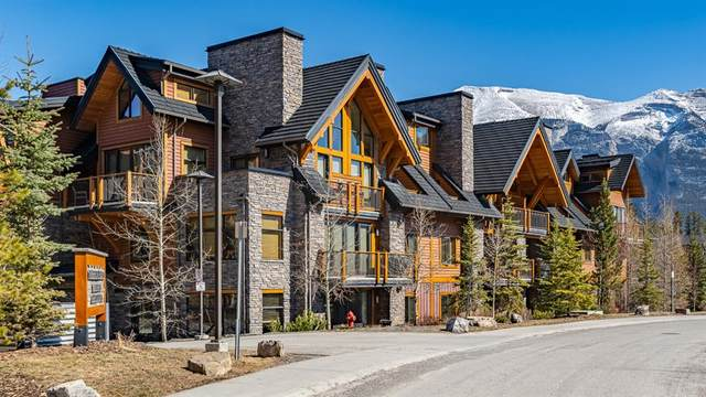 101G Stewart Creek Landing #7108, Canmore, AB T1W 0G6 (#A1095912) :: Canmore & Banff