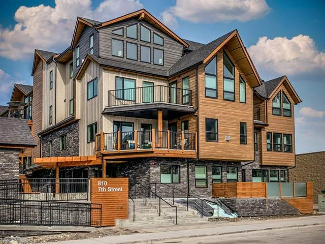 810 7th Street #104, Canmore, AB T1W 2C8 (#A1117740) :: Calgary Homefinders