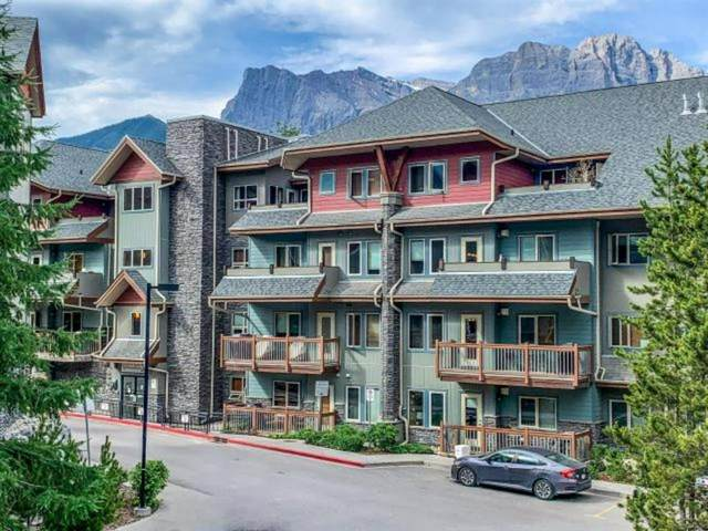 101 Montane Road #221, Canmore, AB T1W 0G2 (#A1118371) :: Calgary Homefinders