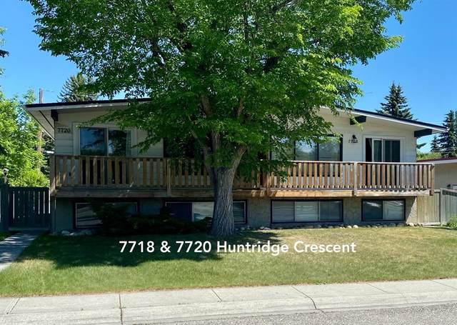 7718 & 7720 Huntridge Crescent NE, Calgary, AB T2K 4C9 (#A1119824) :: Calgary Homefinders