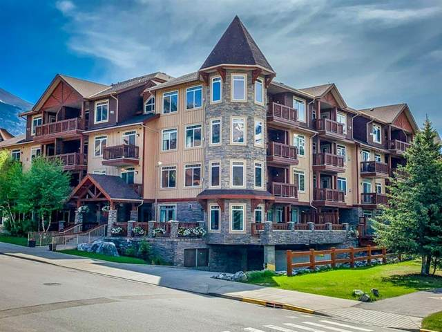 190 Kananaskis Way #404, Canmore, AB T1W 3K5 (#A1120737) :: Greater Calgary Real Estate