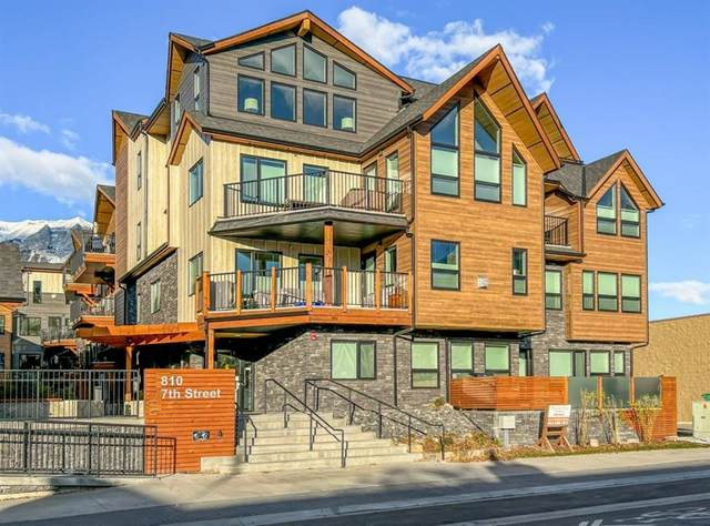 810 7th Street #210, Canmore, AB T1W 2C8 (#A1155481) :: Canmore & Banff