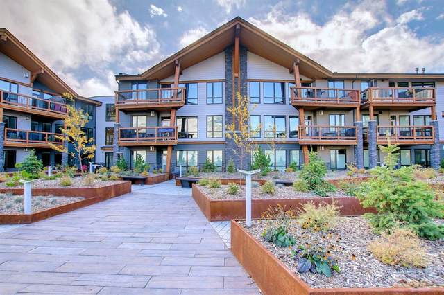 106 Stewart Creek Rise #201, Canmore, AB T1W 0N3 (#A1156539) :: Canmore & Banff