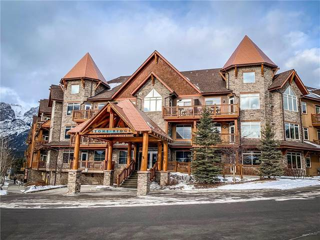 30 Lincoln Park #410, Canmore, AB T1W 3E9 (#C4292844) :: Canmore & Banff