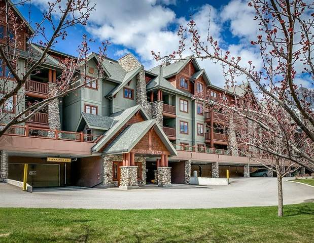 150 Crossbow Place #202, Canmore, AB T1W 3H5 (#C4297653) :: Canmore & Banff