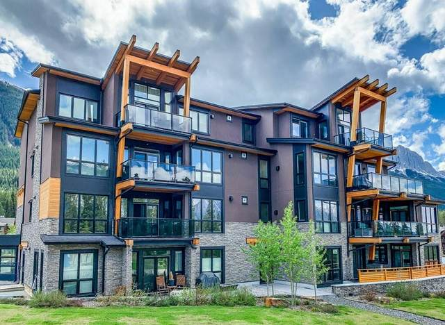 101G Stewart Creek Rise Rise #101, Canmore, AB T1W 0K2 (#C4299981) :: Canmore & Banff