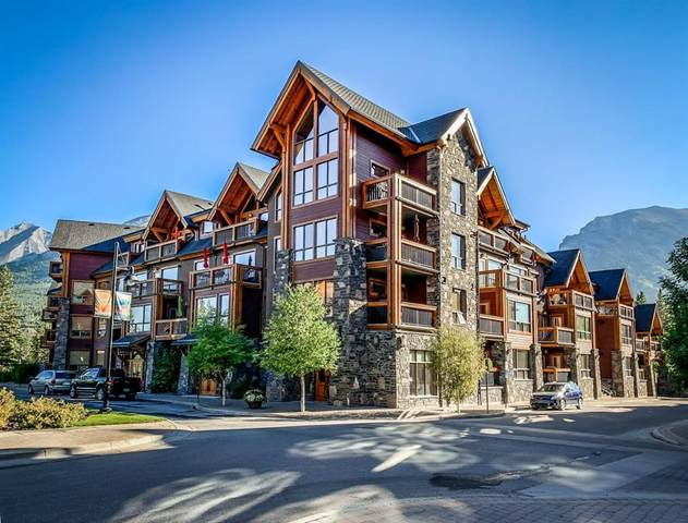 600 Spring Creek Drive #211, Canmore, AB T1W 0C8 (#A1033587) :: Canmore & Banff