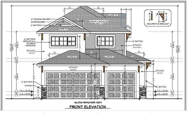 3 Ranchers View, Okotoks, AB T1S 0P4 (#C4294897) :: Canmore & Banff