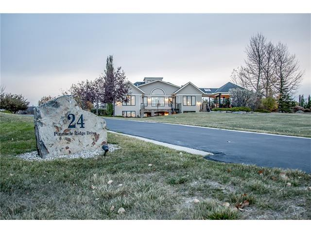 24 Pinnacle Ridge Drive, Rural Rocky View County, AB T3Z 3N7 (#C4142268) :: The Cliff Stevenson Group