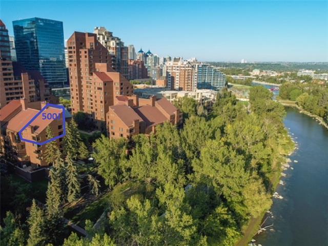 500 Eau Claire Avenue SW 500J, Calgary, AB T2P 3R8 (#C4205040) :: Canmore & Banff