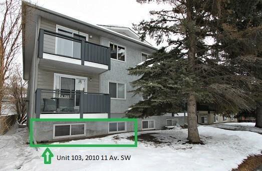 2010 11 Avenue SW #103, Calgary, AB T3C 0P1 (#C4226339) :: Redline Real Estate Group Inc