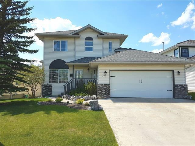 147 Riverview Circle, Cochrane, AB T4C 1K9 (#C4162768) :: Your Calgary Real Estate