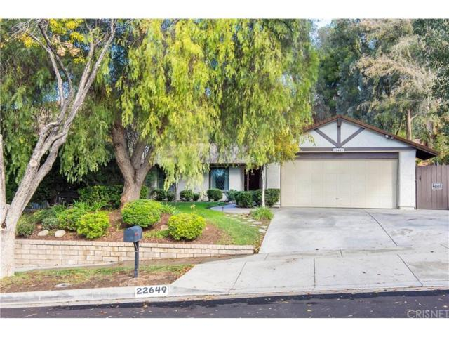 22649 Calvello Drive, Saugus, CA 91350 (#SR18286334) :: The Real Estate Offices of Talbot and Watson